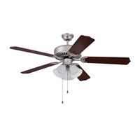 Ellington by Craftmade Pro 205 3 Light 52-inch Ceiling Fan (Blades Sold Separately) in Brushed Satin Nickel E205BN