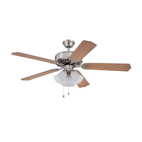 Ellington by Craftmade Pro 205 3 Light 52-inch Ceiling Fan (Blades Sold Separately) in Brushed Polished Nickel E205BNK