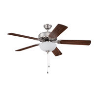 Ellington by Craftmade Pro 207 2 Light 52-inch Ceiling Fan (Blades Sold Separately) in Brushed Polished Nickel E207BNK