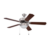 Ellington by Craftmade Pro 209 2 Light 52-inch Ceiling Fan (Blades Sold Separately) in Brushed Polished Nickel E209BNK