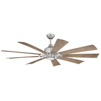 Craftmade EAS60BNK9 Eastwood 60 inch Brushed Polished Nickel with Driftwood Blades Indoor/Outdoor Ceiling Fan