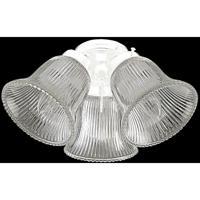 Craftmade ECK306WW Universal 3 Light Incandescent White Fan Light Kit