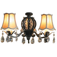 Craftmade ECK898AG Universal 3 Light Incandescent Aged Bronze Textured Fan Light Kit Bell