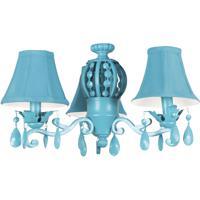 Craftmade ECK898TQ Antoinette 3 Light Incandescent Turquoise Fan Light Kit Universal Mount Bell