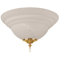 Craftmade ELK126-11 Elegance LED Alabaster Fan Bowl Light Kit in Alabaster Glass, Universal Mount
