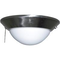 Craftmade ELKD-12BNK Elegance 2 Light CFL Brushed Polished Nickel Fan Light Kit in Opal Frost Glass Universal Mount Bowl