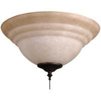 Craftmade ELKT126-11 Elegance LED Tea-Stained Fan Bowl Light Kit in Tea-Stained Glass Universal Mount