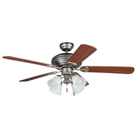 Beaufort 52 inch Antique Nickel with Ash and Mahogany Blades Indoor Ceiling Fan