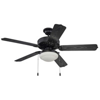 Craftmade END52MBK5PC1 Enduro 52 inch Matte Black with Reversible Matte Black Blades Ceiling Fan