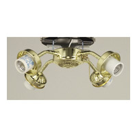 Ellington by Craftmade Universal Fitter 4 Light Light Kit in Bright Brass EUB42BB