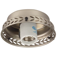 Universal LED Brushed Satin Nickel Fan Light Fitter, Shades Sold Separately