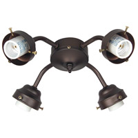 Craftmade Universal Fitter 4 Light Light Kit in Oiled Bronze F400CFL-OB