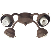 Craftmade Universal Fitter 4 Light Light Kit in Rustic Iron F400CFL-RI