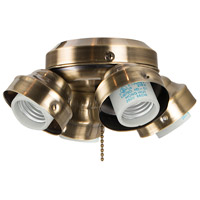 Universal LED Antique Brass Fan Light Fitter