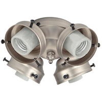 Universal LED Brushed Satin Nickel Fan Light Fitter