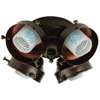 Universal LED Oiled Bronze Fan Light Fitter