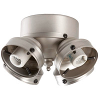 Universal 4 Light Incandescent Brushed Satin Nickel Fan Light Fitter in Brushed Nickel, Shades Sold Separately