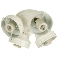 Universal 4 Light Incandescent White Fan Light Fitter, Shades Sold Separately