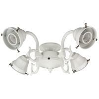 Universal LED Antique White Fan Light Fitter, Shades Sold Separately