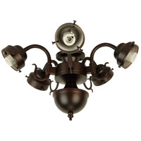Universal LED Oiled Bronze Fan Light Fitter, Shades Sold Separately