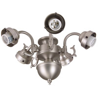 Craftmade F545-BN-LED Universal LED Brushed Satin Nickel Fan Light Fitter, Shades Sold Separately