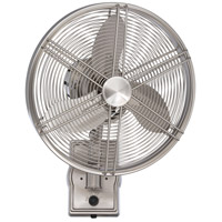 Faraday 22 inch Brushed Polished Nickel Wall Fan in Brushed Nickel, Blades Included