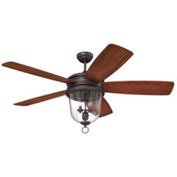 Craftmade FB60OBG5 Fredericksburg 60 inch Oiled Bronze Gilded with Dark Walnut Blades Ceiling Fan, Blades Included