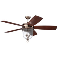 Craftmade FB60TS5 Fredericksburg 60 inch Tarnished Silver with Dark Walnut Blades Ceiling Fan, Blades Included