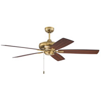 Craftmade FOR52SB5 Fortitude 52 inch Satin Brass with Flat Black/Walnut Blades Ceiling Fan