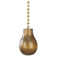 Pear Walnut Fan Pull Chain