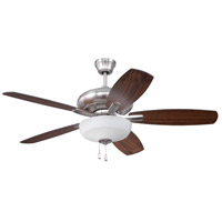 Craftmade FZA52BNK5C1 Forza 52 inch Brushed Polished Nickel with Reversible Walnut and Teak Blades Ceiling Fan, Blades Included