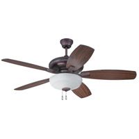Craftmade FZA52OB5C1 Forza 52 inch Oiled Bronze with Reversible Oiled Bronze and Walnut Blades Ceiling Fan, Blades Included