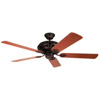 Craftmade GD52ABZ5C Grandeur 52 inch Aged Bronze Brushed with Dark Oak/Mahogany Blades Ceiling Fan in Tea-Stained Glass alternative photo thumbnail