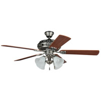 Craftmade GD52AN5C Grandeur 52 inch Antique Nickel with Reversible Ash and Mahogany Blades Ceiling Fan in Alabaster Glass, Blades Included