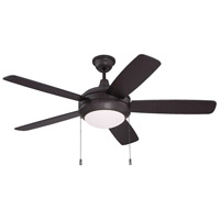 Helios 52 inch Oiled Bronze Gilded with Walnut/Oiled Bronze Blades Ceiling Fan in White Frosted Glass, Halogen