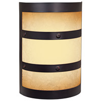Craftmade Teiber Half Cylinder LED Illuminated Door Chime in Oiled Bronze Gilded with Tea-Stained Glass ICH1415-OBG