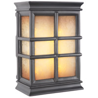 Teiber Black Illuminated Door Chime in Tea-Stained Glass