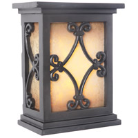 Signature Black Illuminated Door Chime in Tea-Stained Glass