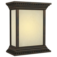 Craftmade Teiber Hand Carved Crown Molding LED Illuminated Door Chime in Oiled Bronze with White Linen Glass ICH1520-OB
