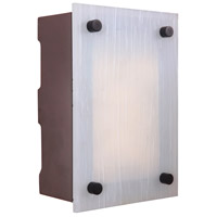 Craftmade Teiber Rectangular LED Illuminated Door Chime in Aged Iron with Frosted Striated Glass ICH1605-AI