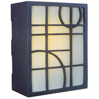 Craftmade Teiber Geometric Pattern LED Illuminated Door Chime in Oiled Bronze with Frosted Glass ICH1660-OB