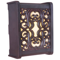 Craftmade Teiber Rounded Scroll LED Illuminated Door Chime in Oiled Bronze Gilded with Amber Frost Glass ICH1670-OBG
