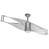 Craftmade ILU56PLN2 Illusion 56 inch Polished Nickel with Clear Acrylic Blades Ceiling Fan, Blades Included