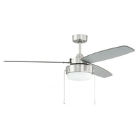Craftmade INT52BNK3 Intrepid 52 inch Brushed Polished Nickel with Silver/Walnut Blades Ceiling Fan