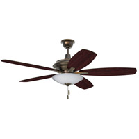 Craftmade JAM52LB5-LED Jamison 52 inch Legacy Brass with Reversible Walnut Blades Ceiling Fan, Blades Included