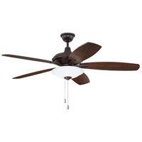 Craftmade JAM52OBG5-LED Jamison 52 inch Oiled Bronze Gilded with Reversible Walnut and Oiled Bronze Blades Ceiling Fan