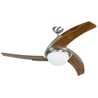 Juna 54 inch Brushed Polished Nickel with White Blades Ceiling Fan, Blades Included