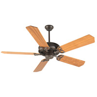 Craftmade K10018 American Tradition 52 inch Aged Bronze Textured with Walnut Blades Ceiling Fan Kit in Plywood Blades, Custom Wood, 0, Light Kit Sold Separately, Blades Included