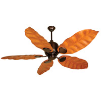 Craftmade K10136 Kona Bay 58 inch Oiled Bronze with Honey Oak Blades Ceiling Fan Kit in Light Kit Sold Separately, Tropic Isle, 0, Solid Wood Blades, Blades Included