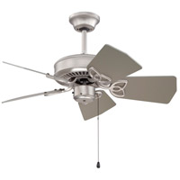 Craftmade K10149 Piccolo 30 inch Brushed Satin Nickel with Brushed Nickel Blades Ceiling Fan Kit in Light Kit Sold Separately